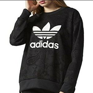 Special Edition Adidas Trefoil Lace Sweater Large
